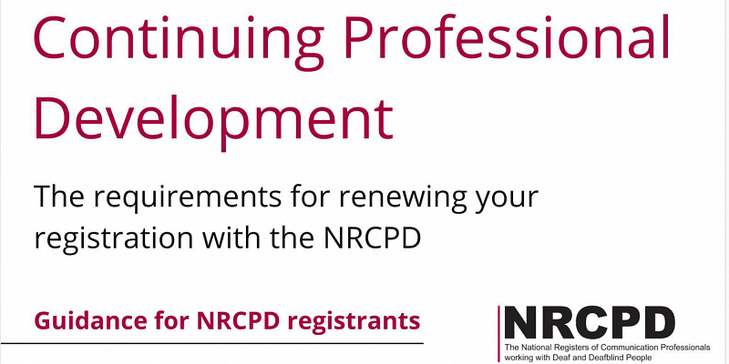 CPD Guidance for NRCPD Registrants